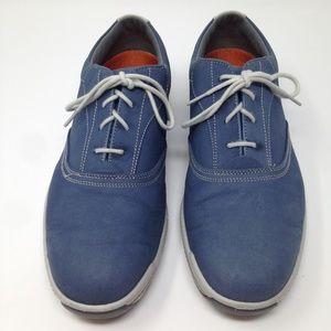 FootJoy Contour Men Spikeless Blue Gold 9.5W Shoes